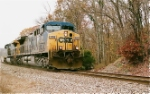 CSX 306 Rolling through the hillside