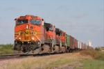 BNSF 4090 heading west loaded unit train.