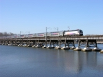 Train 3503 on the Navesink River Bridge
