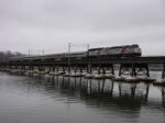 Train 2305 Double Headed Over the Navesink River