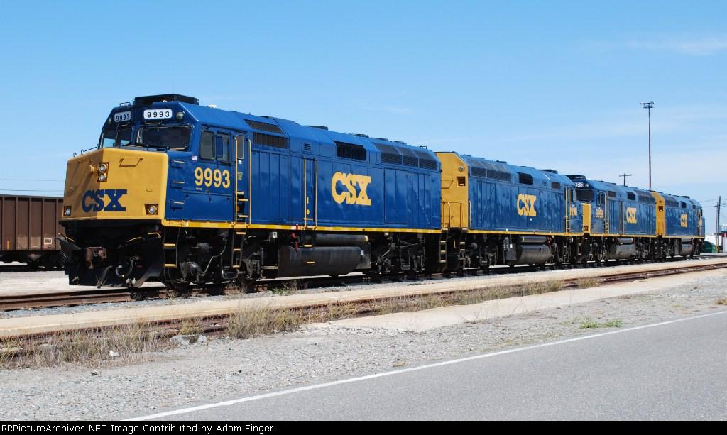 CSX 9998 All Four CSX F40s