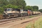 Westbound empty coal train passes Union