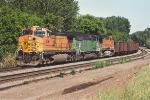 Westbound empty taconite train nears Union