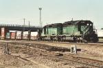 Eastbound stack train through University