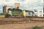 Stack train waits in old Union Yard