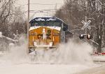 Q621-26 smashing through some snowbanks