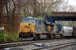 Q406-10 east on track 2 with CSXT 5372(ES44DC) & CSXT 5238(ES44DC)