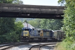 CSXT 7583(C40-8) and CSXT 8857(SD40-2) ex-CR 6500(SD40-2) on Q226-02