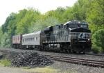 NS 7572 Train 097 Assn of American Railroads Track Loading Train