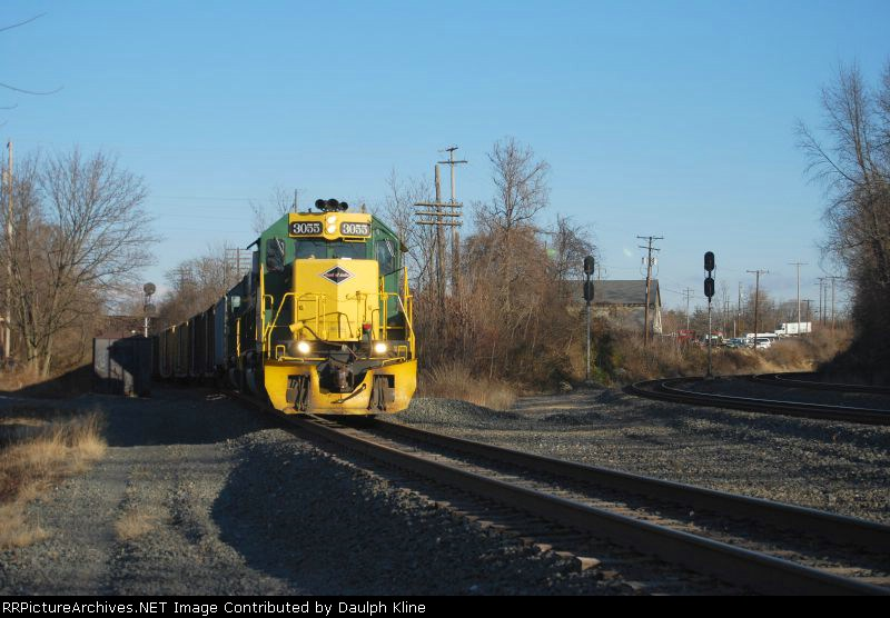 The 3055 and 5017 head in to belt.