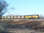 UP 6806 Eases into the Yard with a Coal Train