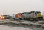 ICE and KCS Trains at Knoche Yard