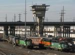 BNSF and KCS Locomotives at Argentine Yard