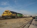 Westbound BNSF Transfer in KCS Knoche Yard