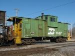 Northbound BNSF Work Train With a BN Caboose