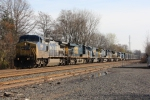 CSX Q409 with 8 locomotives