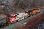 BNSF 8287 on CSX Q380-24