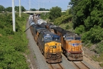UP 4736 on CSX Q390-13 passes CSX 7390 on CSX Q364-13