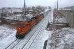 BNSF 4185 on CSX Q380-18