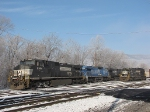 NS 8984, NS 8443 (Ex-CR.Q 6271), NS 9124 on the SB 15T and NS 6670 idle in the yard