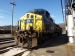 CSX 34 in the cold.