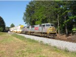 KCS/TFM SD70MAC duo leads EB intermodal train #220