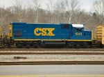 CSX 1545 - 3rd engine on train