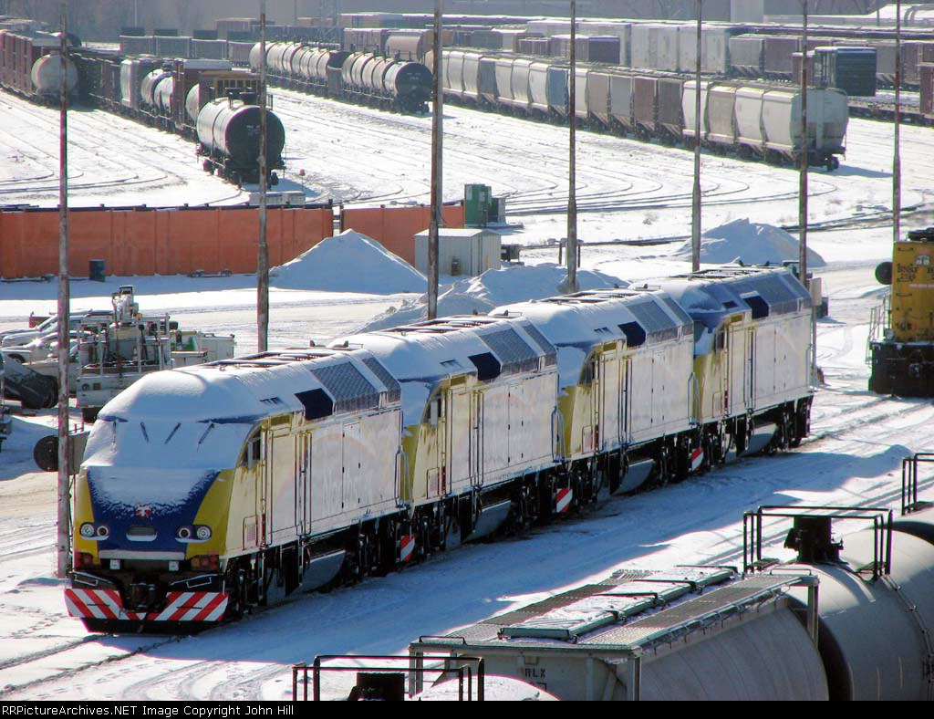 090105002 Northstar MNRX 505-503-504-502 coupled together at BNSF Northtown Yard's caboose track