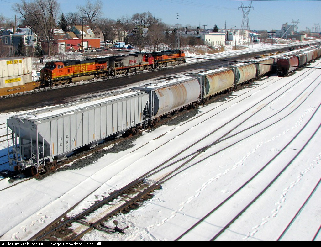 090301002 Eastbound BNSF stack train passes St. Anthony Jct. on Midway Sub.