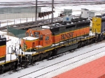 090101005 BNSF 7185 stored dead at Northtown diesel shop