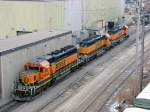 090213005 BNSF 1946 7131 and 6813 at Northtown diesel shop