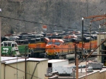 090320011 BNSF 1541-6196, others, at Northtown diesel shop