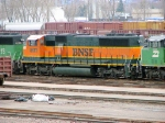 """090401009 BNSF 8177 stored in deadline at Northtown """"T"""" Yard"""