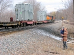 090401029 Eastbound BNSF freight with high-wides
