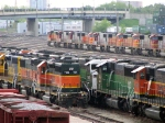 "090511012 BNSF stored loco deadline at Northtown ""T"" Yard"