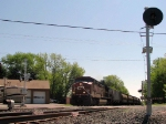 090517002 Westbound CP mainfest takes siding to meet eastbound
