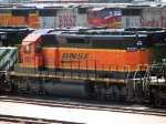 "090519014 BNSF 6821 stored in the Northtown ""T"" Yard deadline"