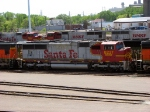 "090519018 BNSF 8237 stored in the Northtown ""T"" Yard deadline"