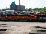 """090519019 BNSF 8252 stored in the Northtown """"T"""" Yard deadline"""