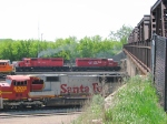 "090519021 What looks like the CP-BN Transfer departs BNSF Northtown departure yard via the ""603"""