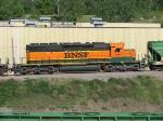 090523009 BNSF 8029 in hump lashup at Northtown Yard