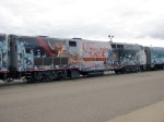 "090718124 Disney ""A Christmas Carol"" promotional train parked at Amtrak Midway station"