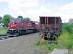 090726005 Eastbound CP stack train waits for meet in siding