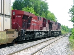 090726012 Eastbound CP stack train departs siding after meet