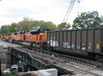 091010068 Westbound WPSX coal train on BNSF St. Paul Sub. crosses Raymond Ave bridge