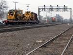 091123013 Eastbound BNSF work train at Northtown CTC University