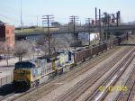 CSX 536 leads train T101 south
