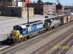 CSX train 579 heads south