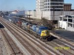 CSX northbound passes Amtrak station 