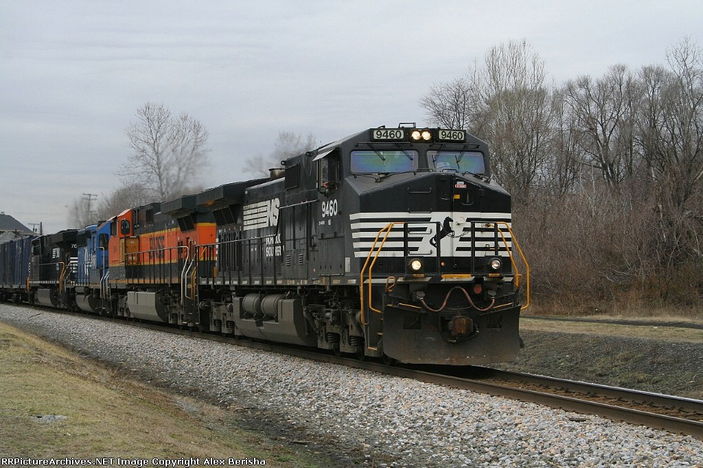 64J Garbage train with decent lash up today